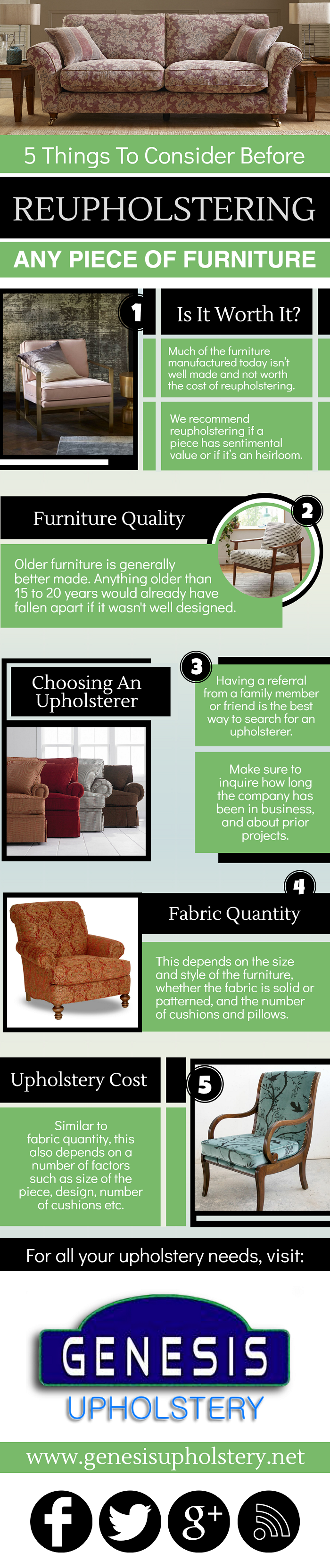 5 Things to Consider Before Reupholstering Any Piece of Furniture